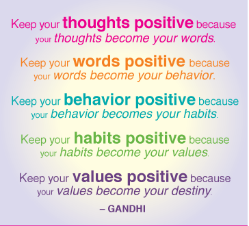 A Lovely Reminder To Keep Your Thoughts Positive