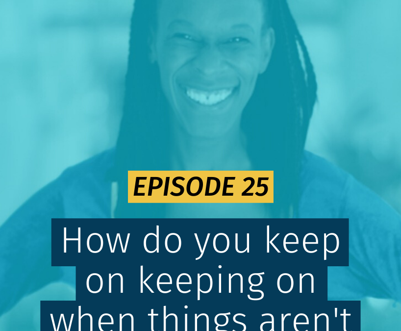 025 How do you keep on keeping on when things aren't going to plan?